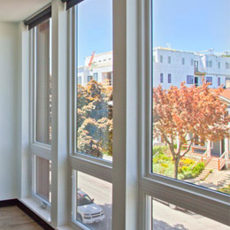 East Terrace Apartments: Custom Roller Shades