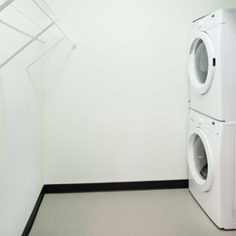 East Terrace Apartments: Walk-in Laundry & Storage
